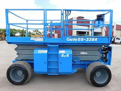 2008 Genie Gs-3384 Rough Terrain 4X4 Scissor Lift - 39Ft Work Height - Dual Fuel