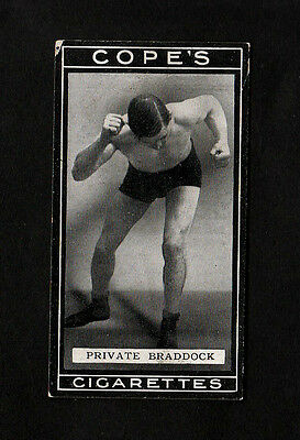 """Cope 1915 Superb Scarce ( Boxing ) Type Card """" # 62 Private Braddock -- Boxers """""""