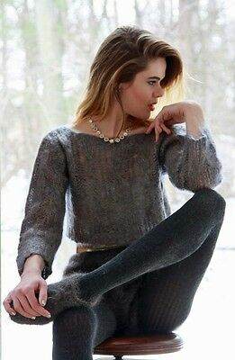 CROPPED MOHAIR SWEATER & SHORTS with SLIPPERS