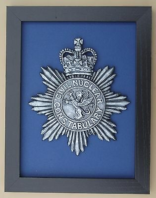 Large Scale Framed CIVIL NUCLEAR CONSTABULARY Badge Plaque