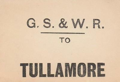 Great Southern & Western Railways Luggage Label TULLAMORE