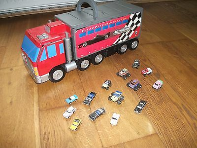Micro Machines Lorry Grand Prix Racing Playset,plus Various Cars