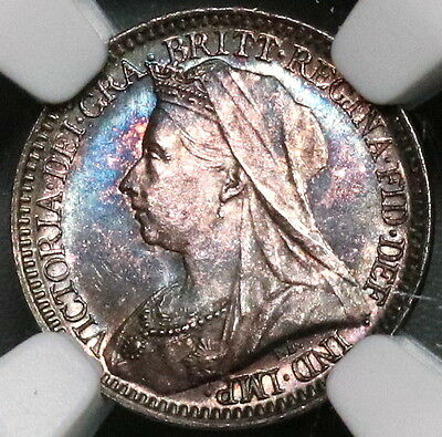 1901 NGC MS 64 Maundy 2 Pence Victoria Last Year GREAT BRITAIN Coin (16122103C)