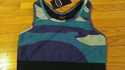 NWT Zara Terez Girls Active Sports Bra Top Racerback large blue and purple
