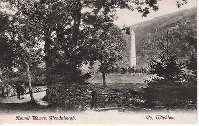 Vintage Postcard Round Tower, Glendalough Co. Wicklow Unposted