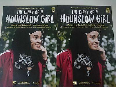 The Diary of a Hounslow Girl   - 2016 UK Theatre Tour FLYERS x 2