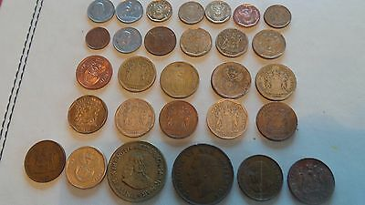 South Africa, 29 x various years & denomination, coins.
