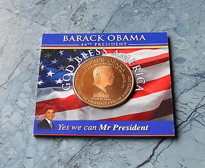 * USA Medaille 2009 , 50 mm  ** Barack Obama  44Th PRESIDENT