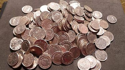 Netherlands, 235 x 25 Cents Coins. (Various, random, years).