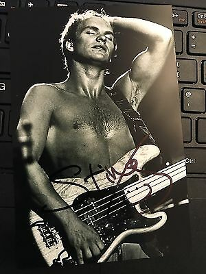 Sting Hand Signed Autograph Photo Card - Singer - The Police