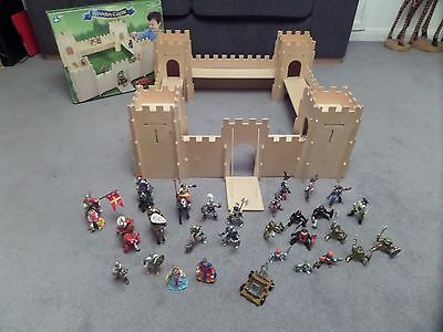 ELC Wooden Castle with A Collection of Figures