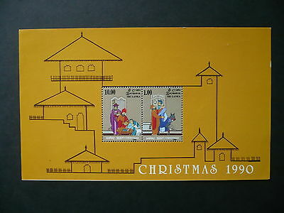 Mnh Sri Lanka 1990 Christmas  Mini-Sheet V.f.never Hinged Sg Ms 1141