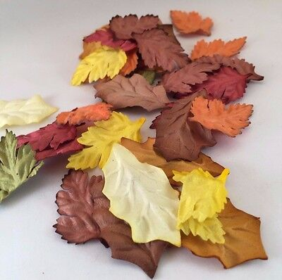 Autumnal  Mulberry Paper Leaves Craft Scrapbooking Embellishment Cardmaking x 20