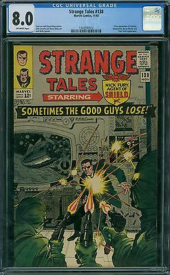 Strange Tales 138 CGC 8.0 - OW Pages