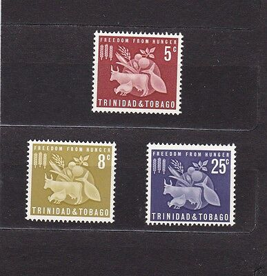 Trinidad & Tobago #110-112 Mnh Freedom From Hunger Campaign