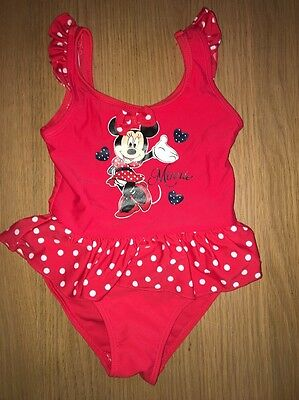 Disney Minnie Mouse Red Swimming Costume 3-4 Years