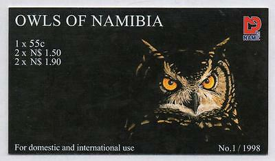 NAMIBIA MNH 1998 Owls of Namibia Booklet Complete
