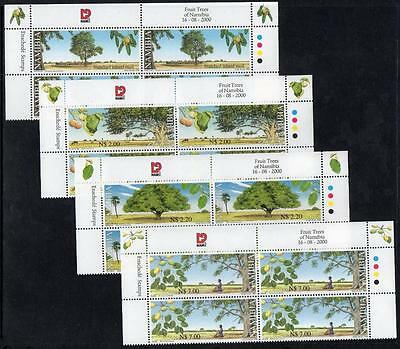 NAMIBIA MNH 2000 SG873-76 Trees with Nutritional Value, Blocks of 4