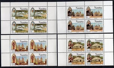 NAMIBIA MNH 1996 SG681-84 100th Anniversary of Catholic Missions Blocks of 4