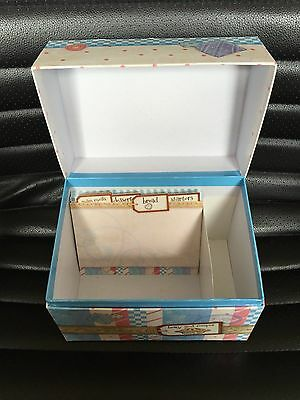 Cherished Teddies Recipe Card Box Holder With Inserts And Blank Cards