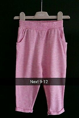 Girls next pink summer trousers age 9-12 months