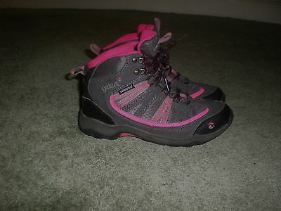Gelert Waterproof Trainers, Charcoal/pink Lace Up, Size 4