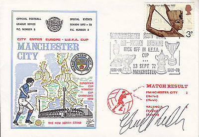 Tommy Booth Signed Dawn Manchester City Cover