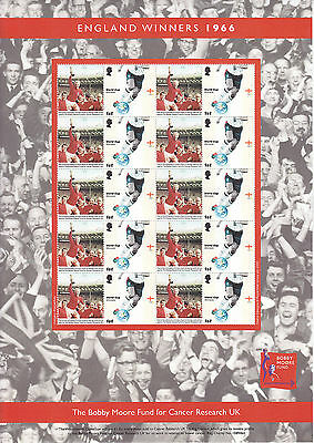 Bobby Moore Cancer Research Sheet Of Stamps