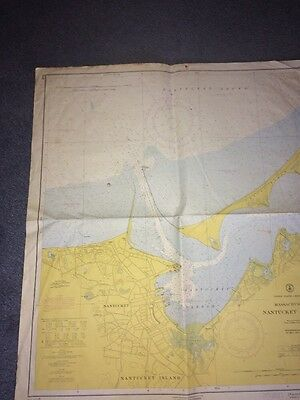 Map Of Nantucket Harbor Massachusetts Usa. 1960 31 X 27""