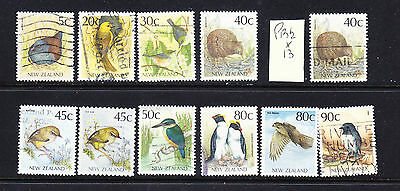 New Zealand postage stamps - 11  x Used 1988 Native Birds - Collection Odds