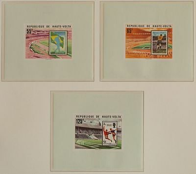 UPPER VOLTA 1978 UNLISTED ImPerf MNH Sheets, Soccer-Football, Futebol-Futebol