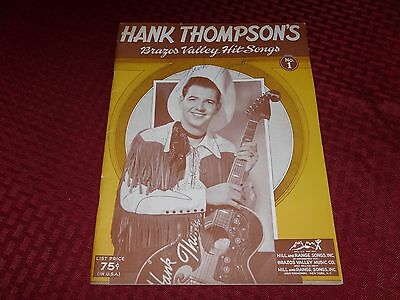Vintage Hank Thompson's Brazos Valley Hit Songs, signed plus Billy Gray sig