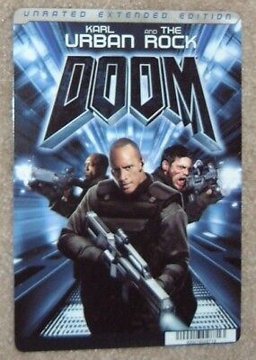 DOOM Movie Backer Card THE ROCK, DWAYNE JOHNSON  this is NOT a movie