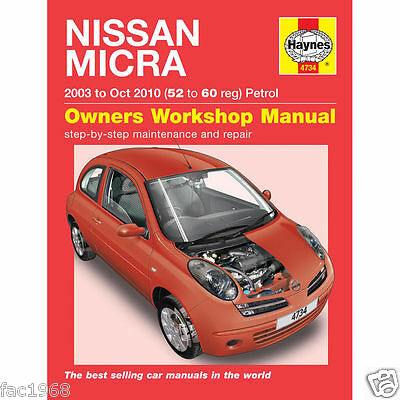 Nissan Micra 03 to Oct10(52to60reg)Petrol Haynes 4734 Owners Workshop Manual New