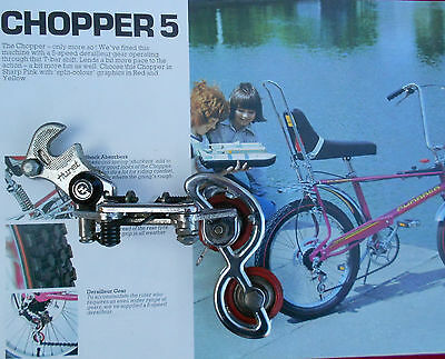 Vintage RALEIGH CHOPPER 5,  HURET SVELTO Rear Derailleur 5 Speed in V.G.C