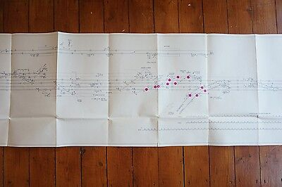 1962 Hither Green Railway Track Plan 280cm x 43cm