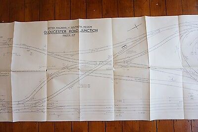 1961 Gloucester Road Junction Railway Track Plan 240cm x 61cm