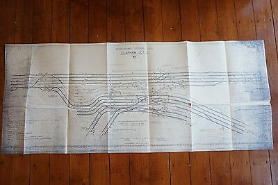 1961 Clapham Junction A Railway Track Plan  Diagram 135cm x 55cm