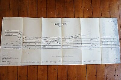 1961 Queens Road Railway Track Plan 120cm x 48cm
