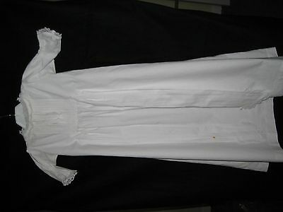 Vintage White Cotton Baby Gown