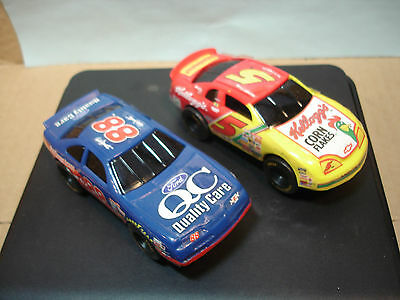 2 ARTIN 1:43rd SCALE SLOT CARS NASCARS KELLOGGS #5 AND QUALITY CAR #88 SEE BELOW