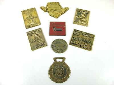 8 Solid brass plaques, country show, steam rally, commemorative souvenir plaques