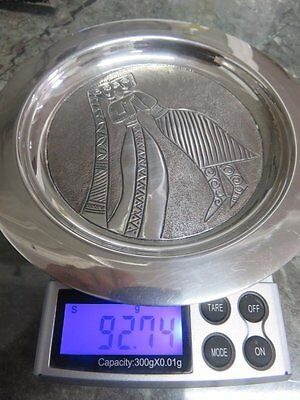 Norwegian Arts & Crafts Solid Silver Tray. 92g. G.S.Gine Sommerfeld Tostrup.