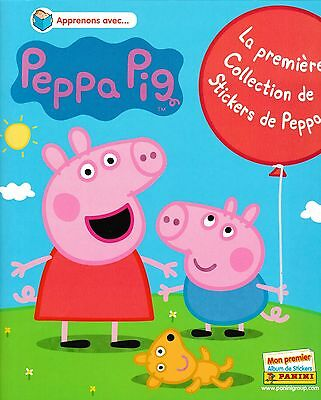 lot 130 stickers panini images PEPPA PIG sans double