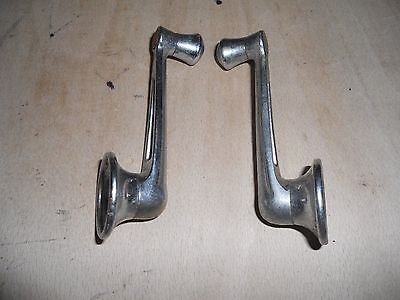 2  Chrome Window Winders for Baby Austin 7 or Similar