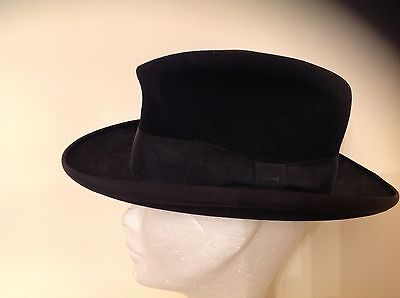 Vintage Dapper Dunn & Co. Piccadilly Circus London Black Trilby Hat 400 634