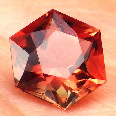 ROSE PINK-RED-GREEN SCHILLER OREGON SUNSTONE 1.63Ct FLAWLESS-FOR BEAUTIFUL JEWEL