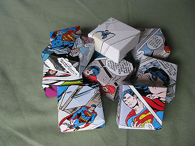 30 handmade origami Eco gift boxes & lids  DC COMICS SUPERMAN favours lucky dip