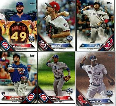 2016 Topps Update Series Baseball - Base Cards - Choose From Card US #'s 1-150