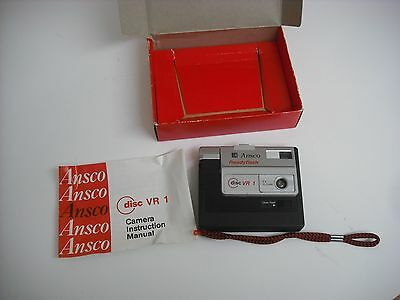 Vintage Ansco Disc Camera  VR 1 With Box and Manual